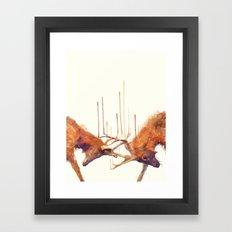 Stags // Strong Framed Art Print