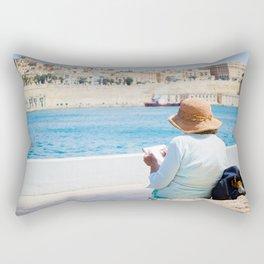 Sketching Valetta Rectangular Pillow