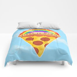 Pizza Is Magic Comforters