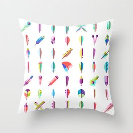 CUTE FEATHERS PATTERN Throw Pillow