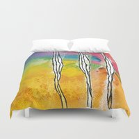 three of the possessed Duvet Covers featuring Three by ghennah