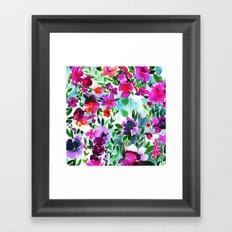 Evie Floral Magenta Framed Art Print