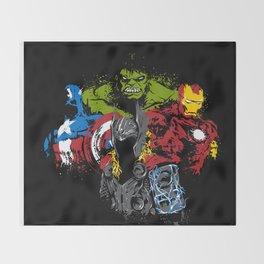 all together avenger s Throw Blanket