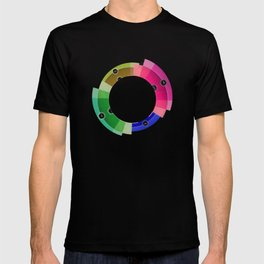 tecno colorful circle T-shirt