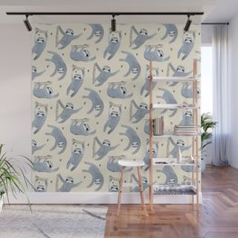 Grey sloths with love Wall Mural