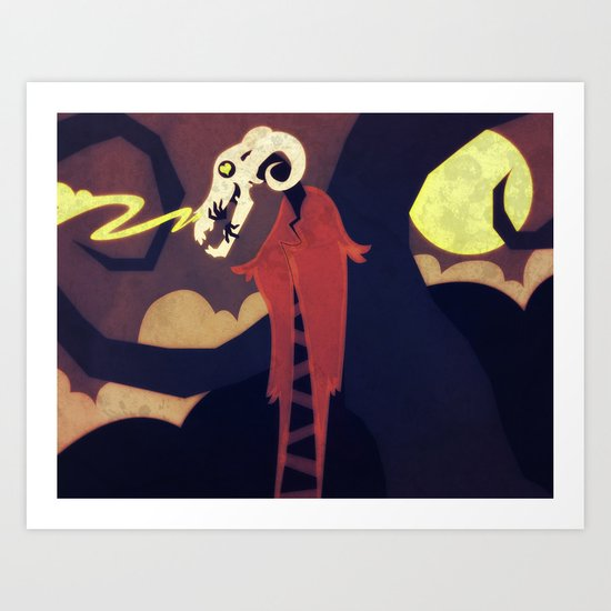 Dark Night Art Print