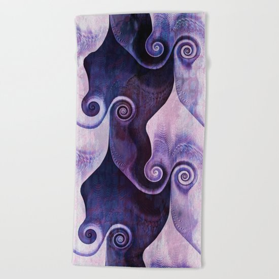 Swirly Spiral Beach Towel