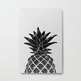 Pineapple Marble Metal Print