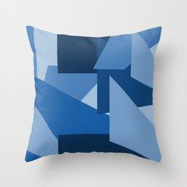 Blu-Geometric Throw Pillow