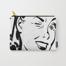 Winking Woman Carry-All Pouch