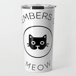 Members Of Meow Travel Mug