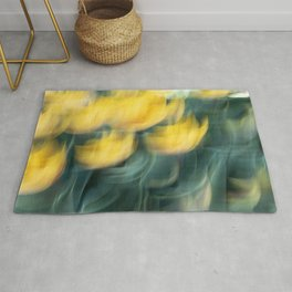 Yellow Tulip Waves Rug