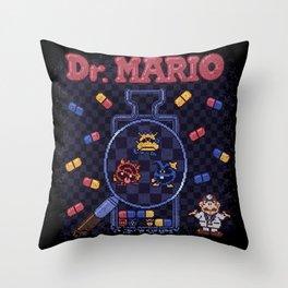 Mario Doctor Throw Pillow
