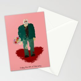 Friday the 14th of February (Monsters in Love) Stationery Cards