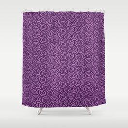 Spiral planet Shower Curtain