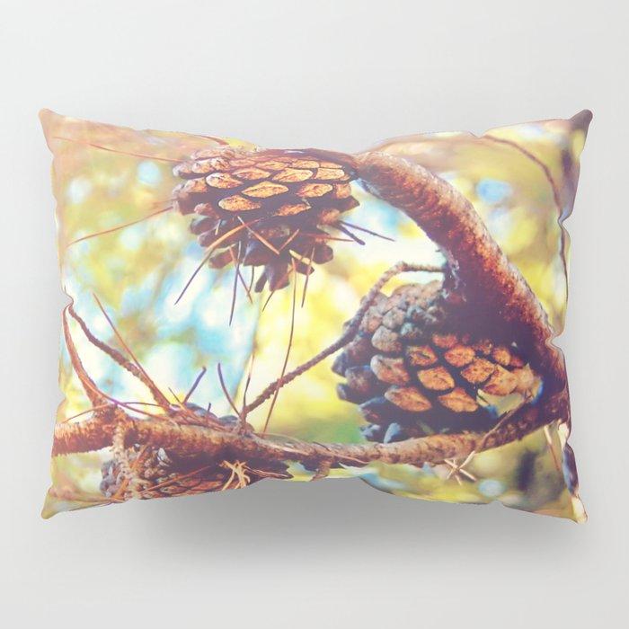 Autumn pine cones  #photography Pillow Sham