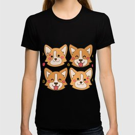 Corgi Dog Gifts Cute Puppy Pets T-shirt