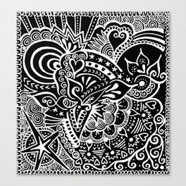 Rebirth Zentangle Canvas Print