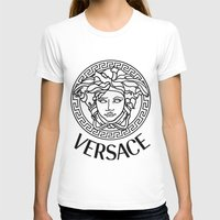 versace T-shirts featuring Versace Noir by Goldflakes