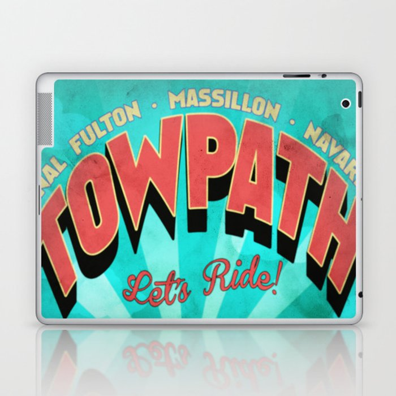 Canal Fulton Massillon Navarre Towpath Bicycle Adventure Laptop & iPad Skin