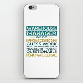 WAREHOUSE MANAGER iPhone Skin