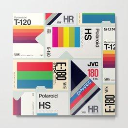 Retro VHS Metal Print