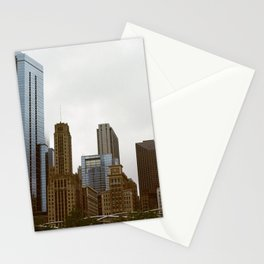 Looking onto Chicago from Millennium Park Stationery Cards