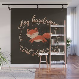 Dog Hardware Cat Software Wall Mural