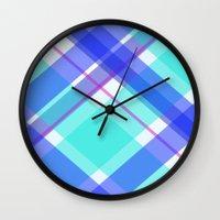 darren criss Wall Clocks featuring Criss Kros  by Rachel