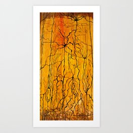 Neural Activity (An Ode to Cajal) Art Print