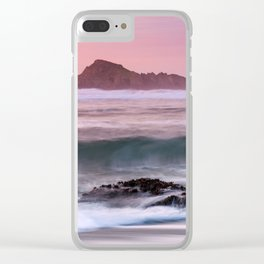 Waves Break at Cape Blanco State Park during Sunset Clear iPhone Case