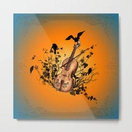 Violin with violin bow Metal Print