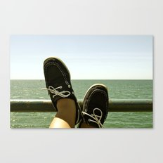 Feet at Sea Canvas Print