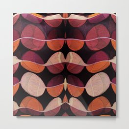 """Retro Rose Petals Abstract painting"" Metal Print"