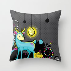 Kawaii Deer Throw Pillow