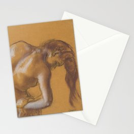 Bather Drying Herself Stationery Cards