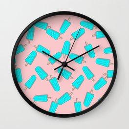 CUTE SUMMER PASTEL ICE CREAM PATTERN Wall Clock