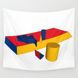 geometric primary colours Wall Tapestry