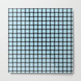 Small Pastel Blue Weave Metal Print