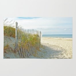 Sandy Beach, Ocean, and Dunes Rug