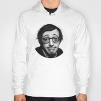 woody allen Hoodies featuring Woody Allen by Alexia Rose