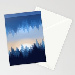 Winter Pines Reflected Stationery Cards