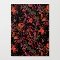 Nightfire Floral Canvas Print