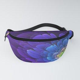 purple, flower, fractala Fanny Pack