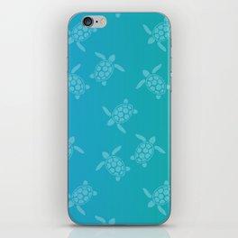 Sea Turtles on Aqua iPhone Skin