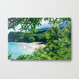 Hamoa Beach Hana Maui Hawaii Metal Print