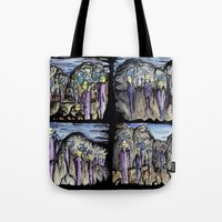 cities Tote Bags featuring Cities by Kimmo Rantalainen