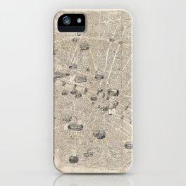 Vintage Map of Paris France (1841) iPhone Case