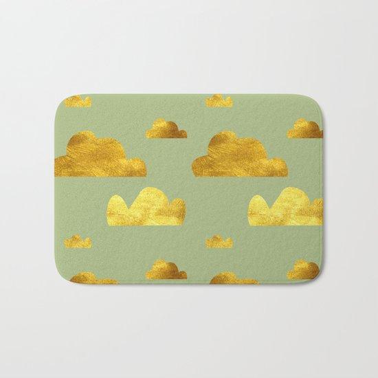 Gold Clouds green Bath Mat