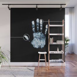 Line Of Hand Print Wall Mural